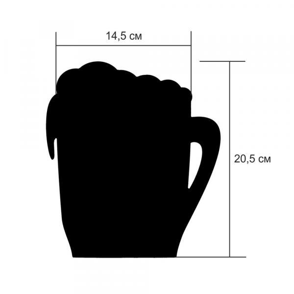 "Меловая табличка ""Кружка пива"", размер L"