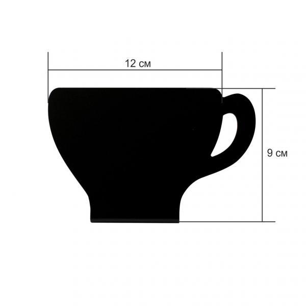 "Меловая табличка ""Чашка"" размер M"