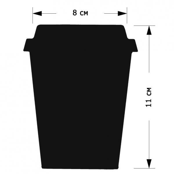 """Меловой ценник """"Стаканчик кофе"""",  размер М"""
