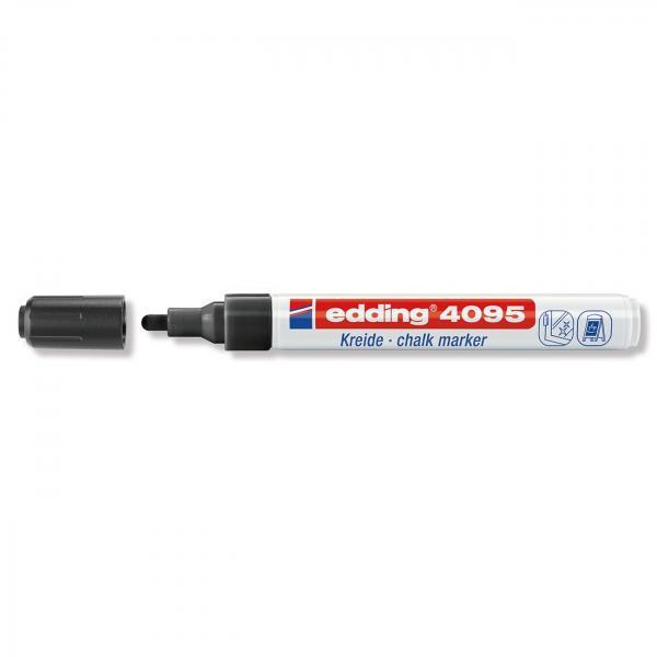 Меловой маркер Edding 4095, 2-3 мм, чёрный
