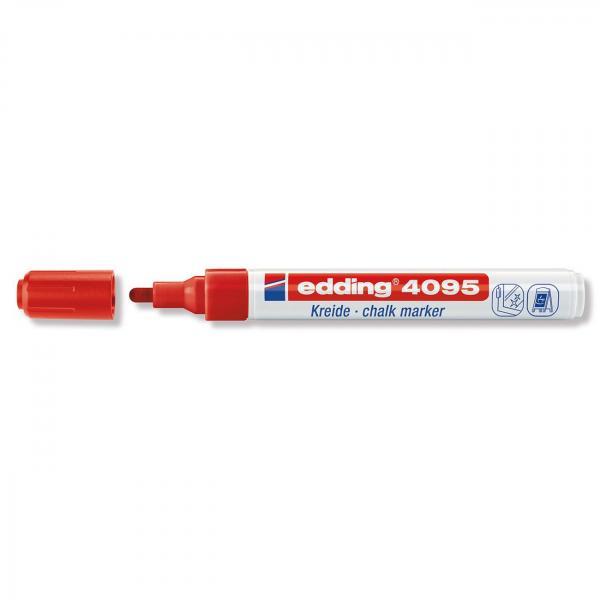 Меловой маркер Edding 4095, 2-3 мм, красный