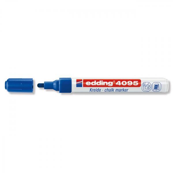 Меловой маркер Edding 4095, 2-3 мм, синий