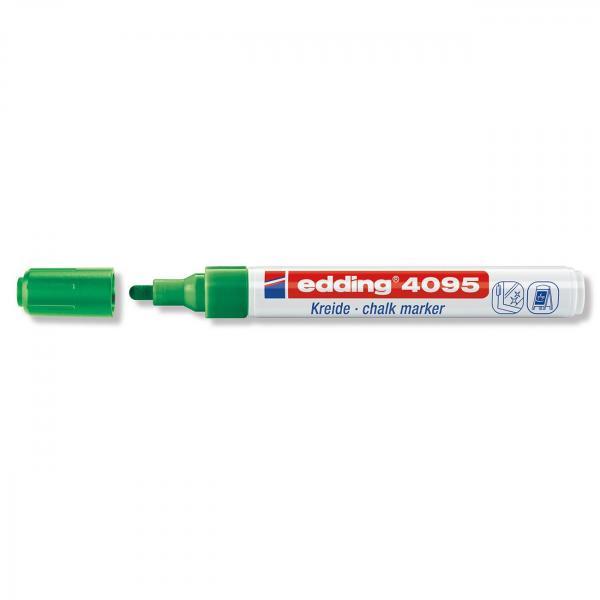 Меловой маркер Edding 4095, 2-3 мм, зеленый