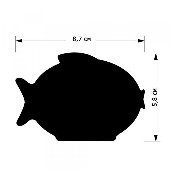 """Меловой ценник """"Рыбка"""", размер S"""