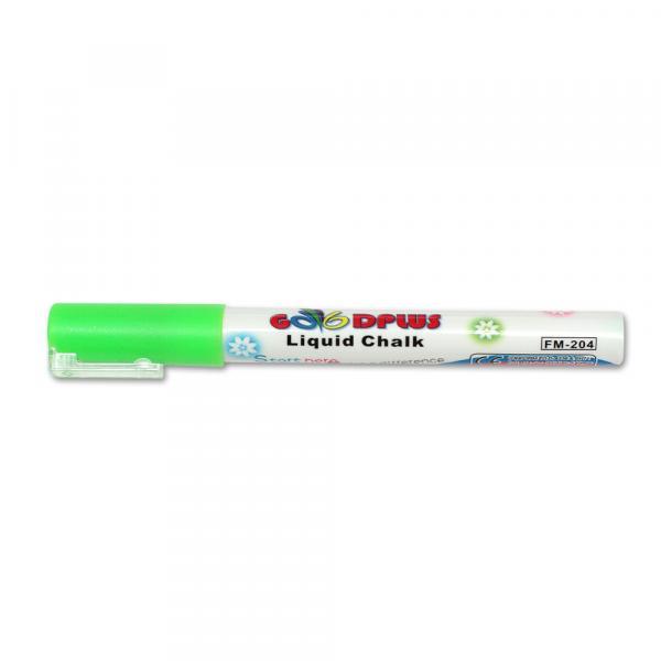 Меловой маркер GoodPlus 204, 1-2 мм, зеленый