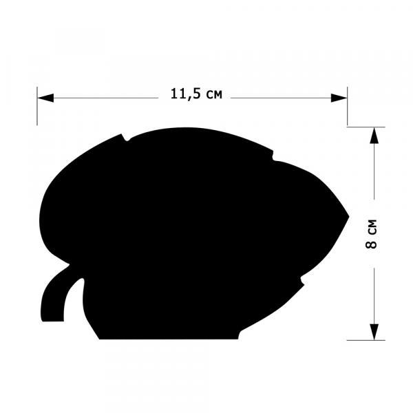 """Меловой ценник  """"Листик"""", размер M"""
