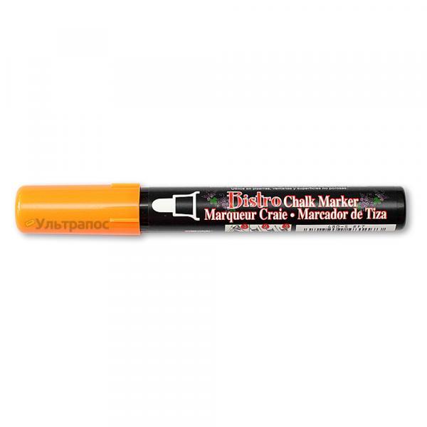 Меловой маркер Marvy Bistro для меловых ценников, меловых досок и led-досок, 2-4 мм,  оранжевый