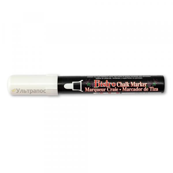 Меловой маркер Marvy Bistro для меловых ценников, меловых досок и led-досок, 2-4 мм, белый