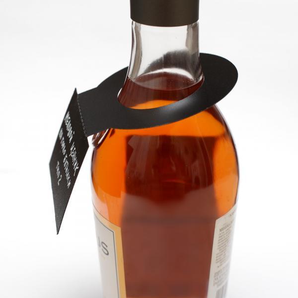 Меловой ценник на горло бутылки, тип 2