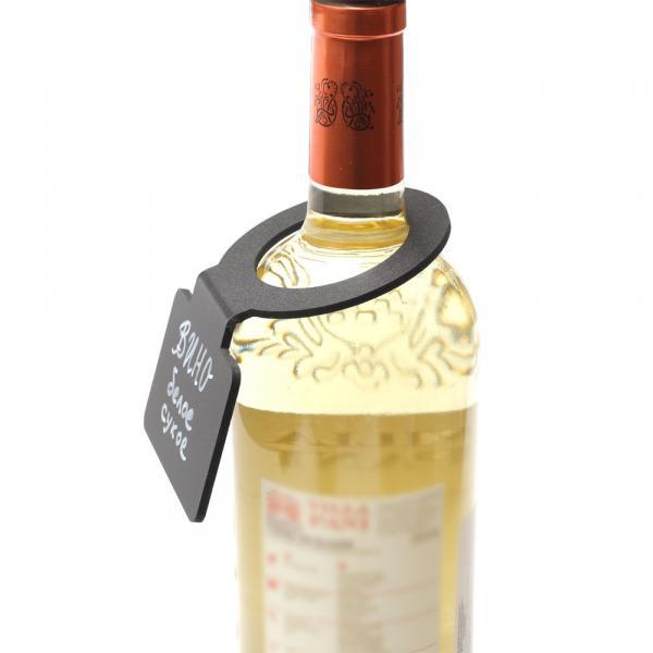 Меловой ценник на горло бутылки